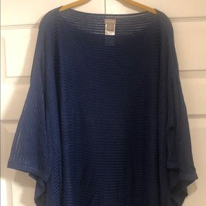 Chico's Navy Poncho/Bateau-Neck Pullover size 3